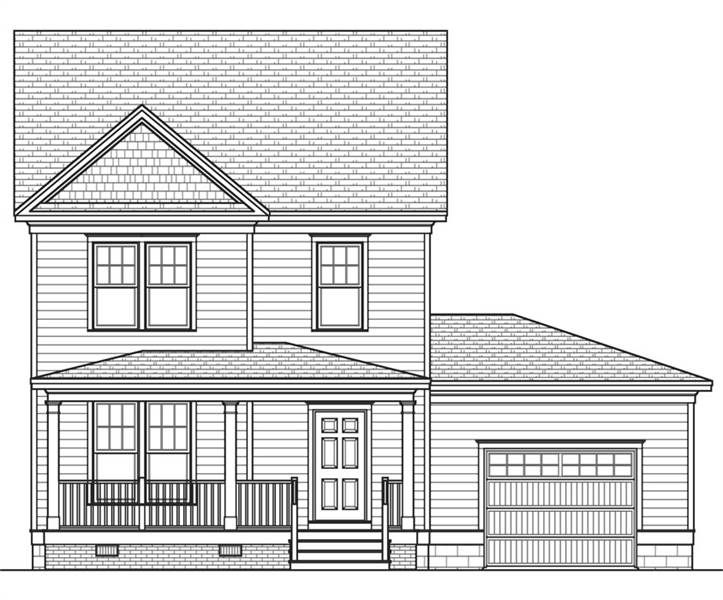 Front Elevation image of Rochester House Plan