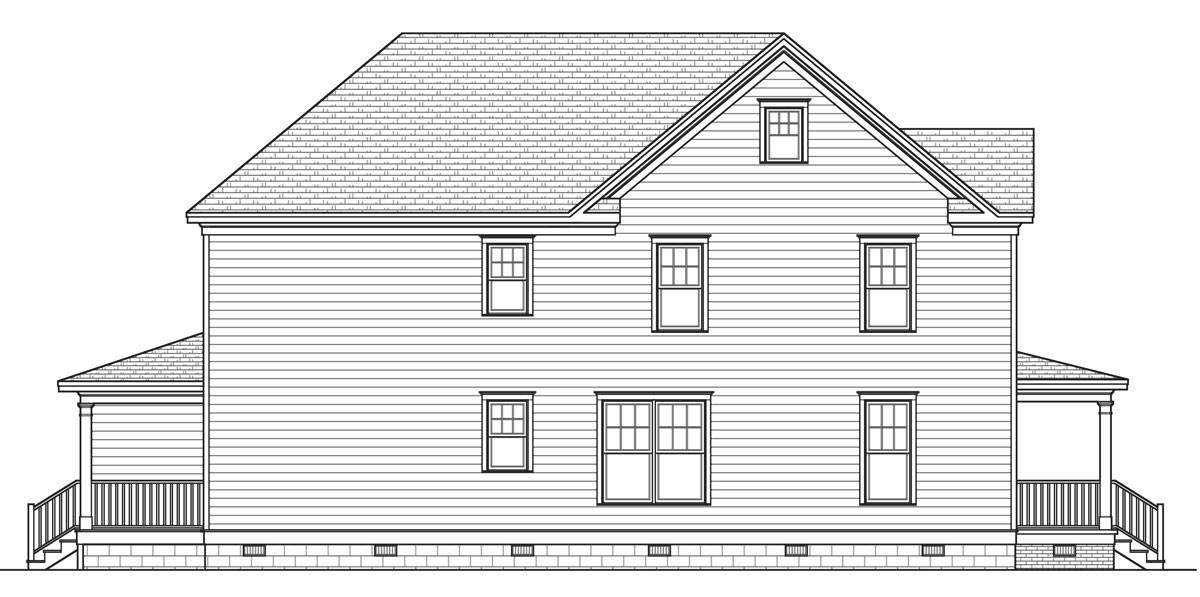 Left Side Elevation image of Rochester House Plan