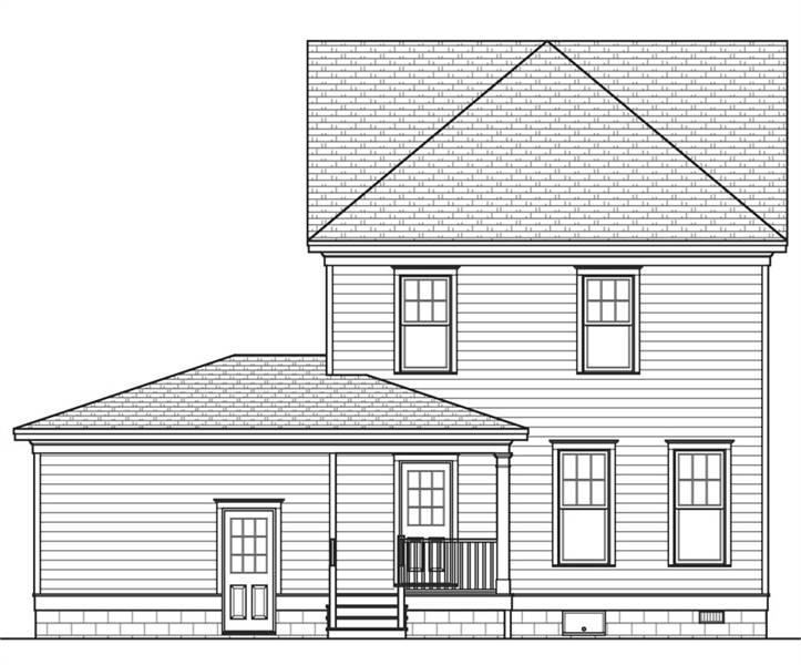Rear Elevation image of Rochester House Plan