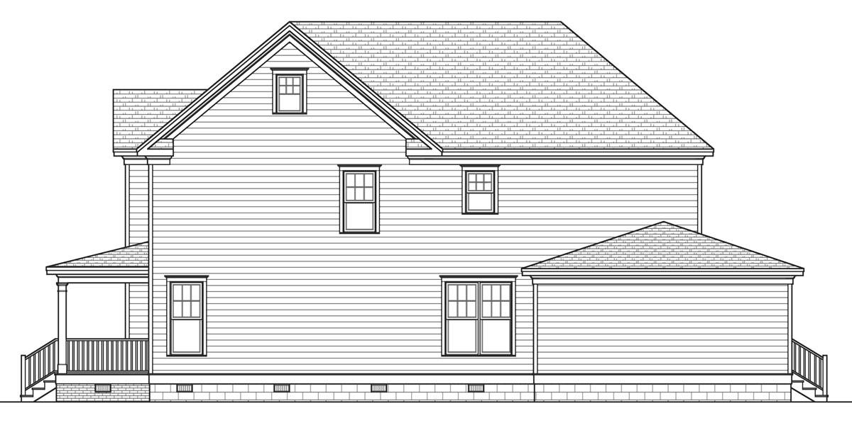 Right Side Elevation image of Rochester House Plan