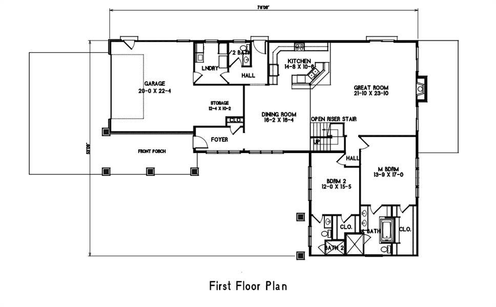 1st Floor Plan image of Amazing Grace House Plan