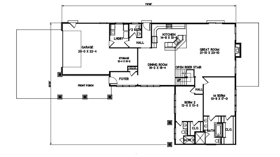 1st Floor Plan image of Amazing Grace House Plan
