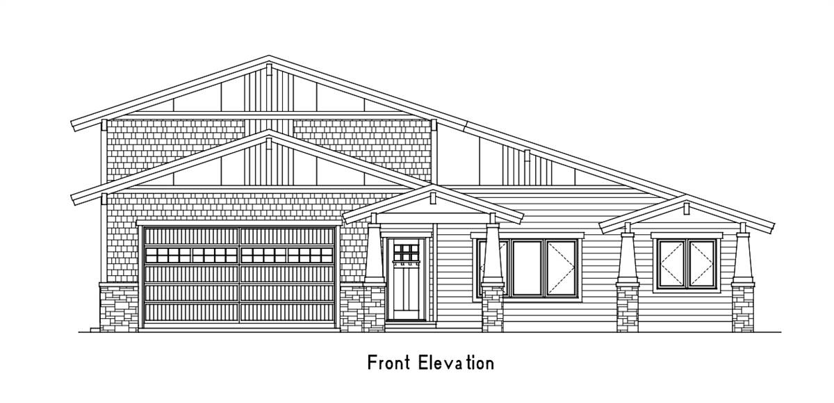 Front Elevation image of Amazing Grace House Plan