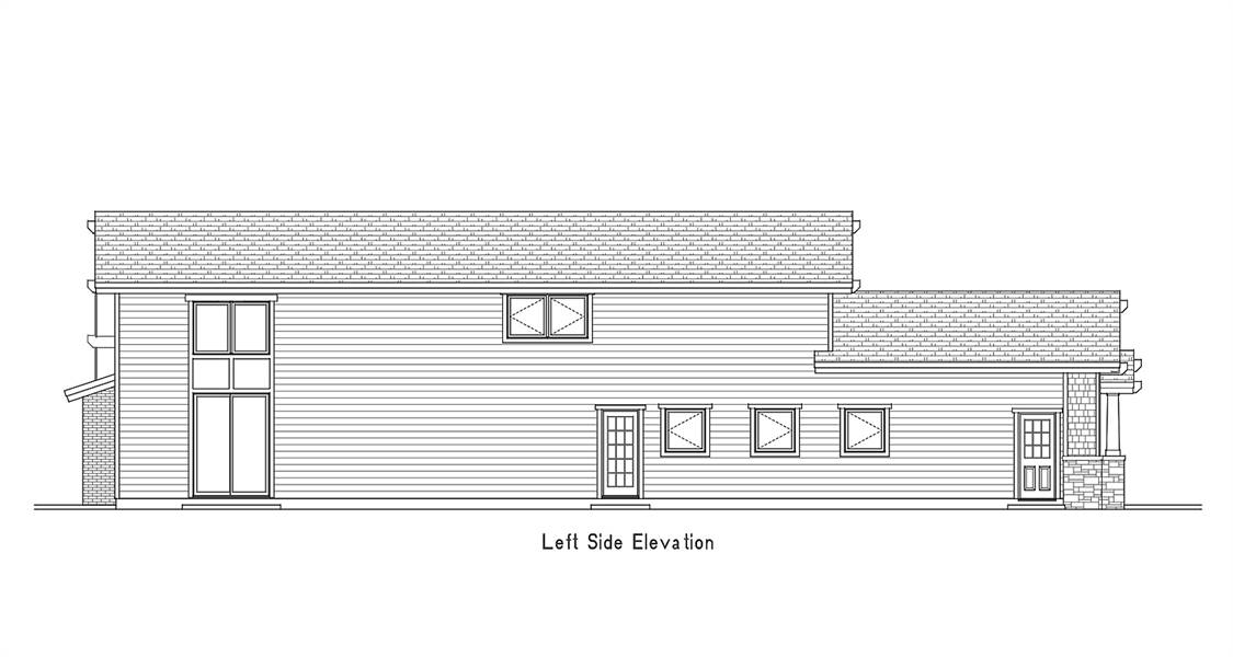 Left Side Elevation image of Amazing Grace House Plan