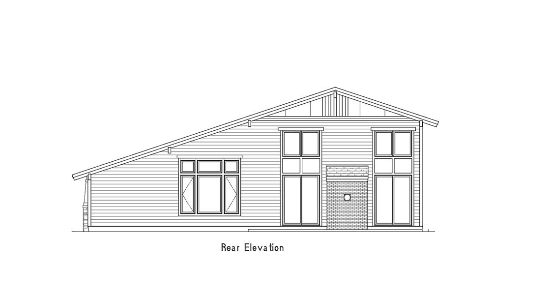 Rear Elevation image of Amazing Grace House Plan