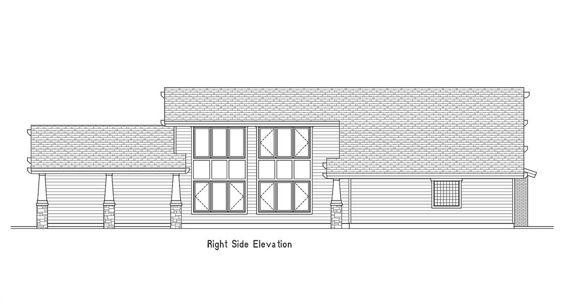 Right Side Elevation image of Amazing Grace House Plan