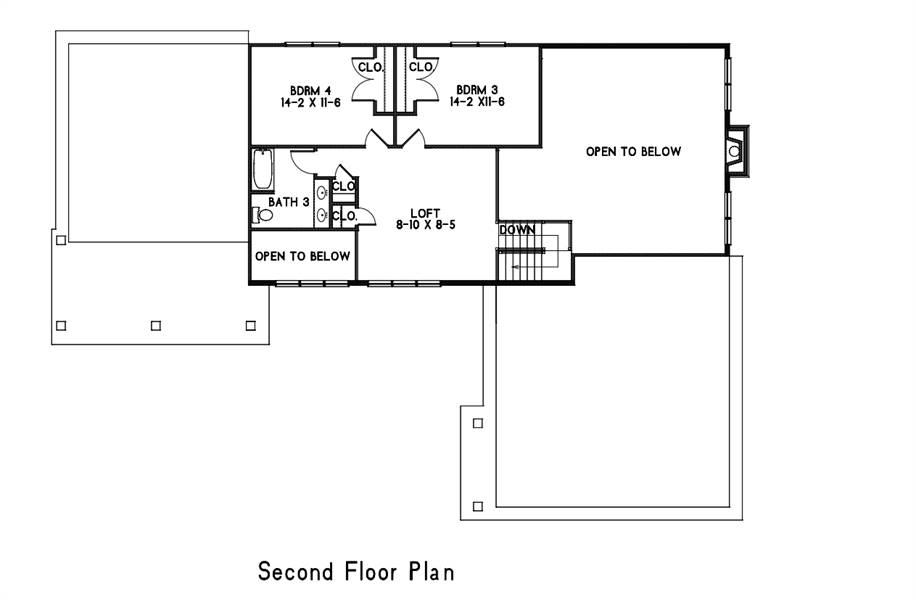2nd Floor Plan image of Amazing Grace House Plan