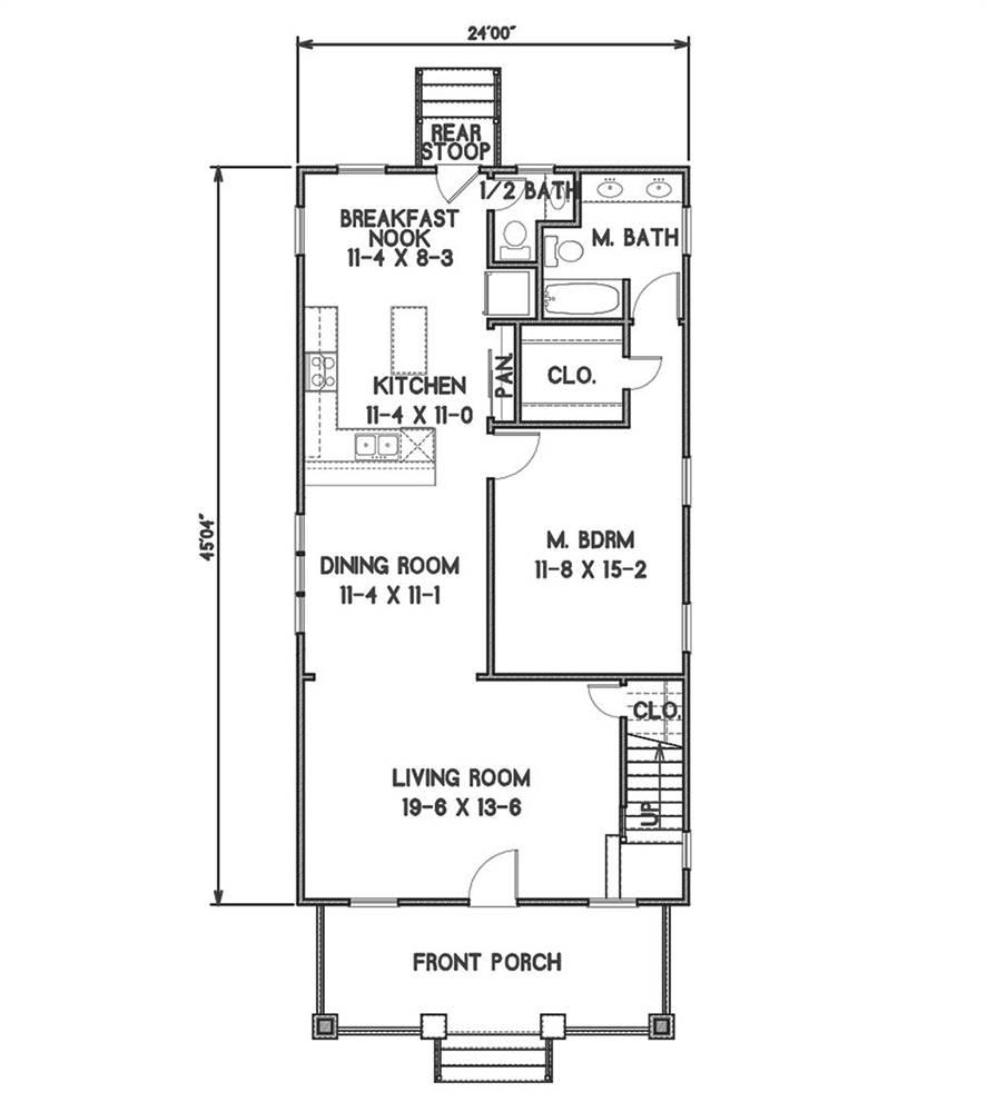 1st Floor Plan image of Sugar House House Plan