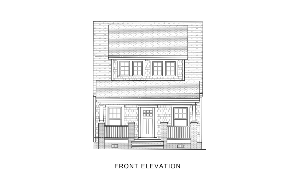 Front Elevation image of Sugar House House Plan