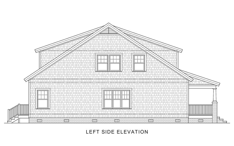 Left Side Elevation image of Sugar House House Plan