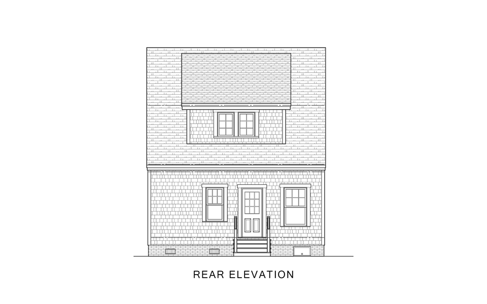 Rear Elevation image of Sugar House House Plan