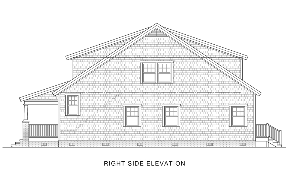 Right Side Elevation image of Sugar House House Plan