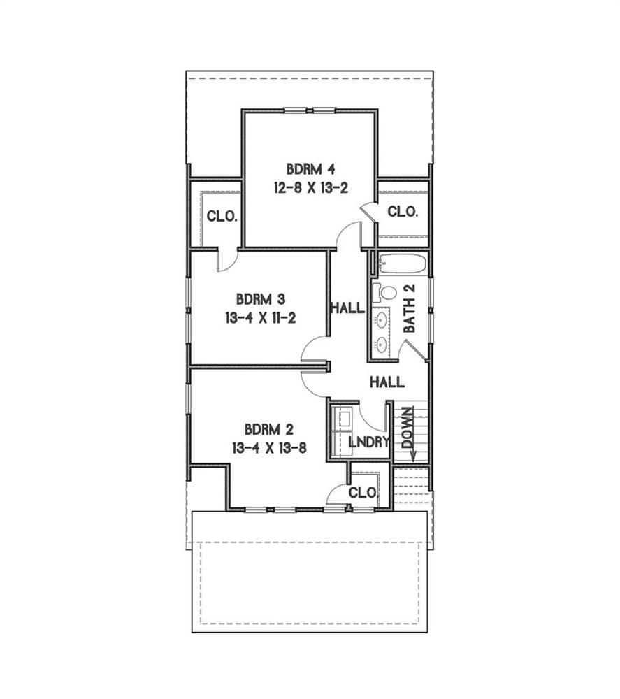 2nd Floor Plan image of Sugar House House Plan
