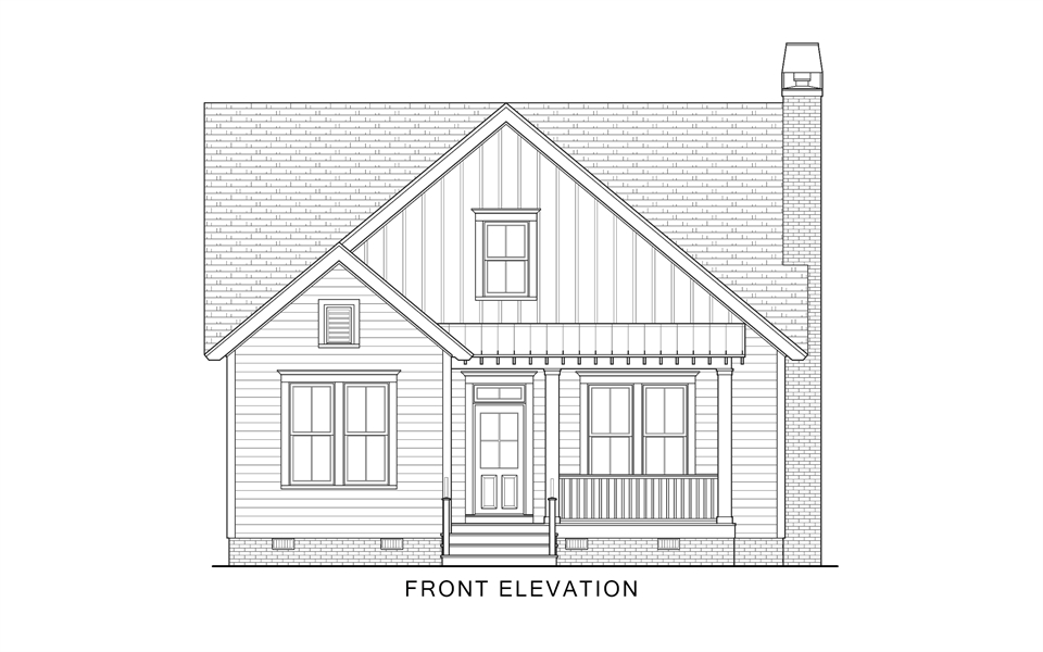 Front Elevation image of Country Roads House Plan