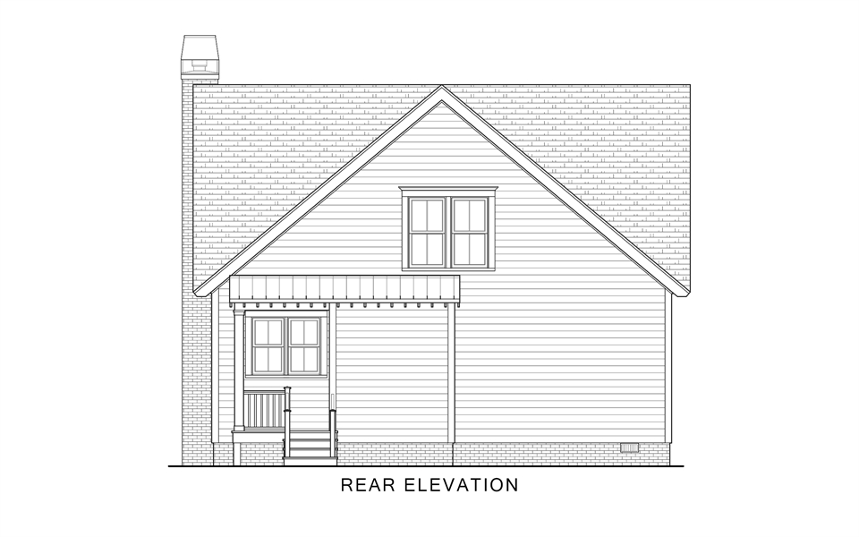Rear Elevation image of Country Roads House Plan