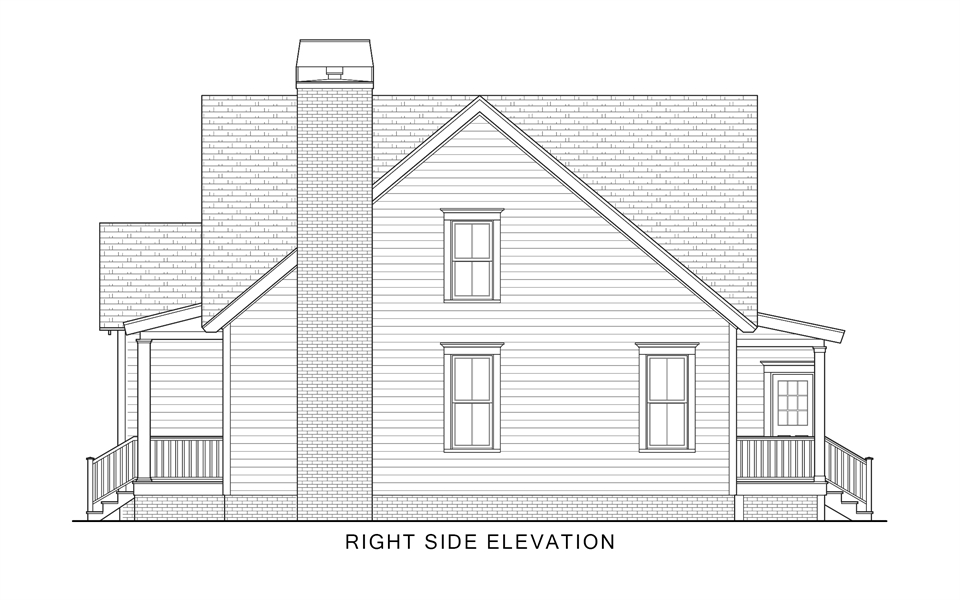 Right Elevation image of Country Roads House Plan