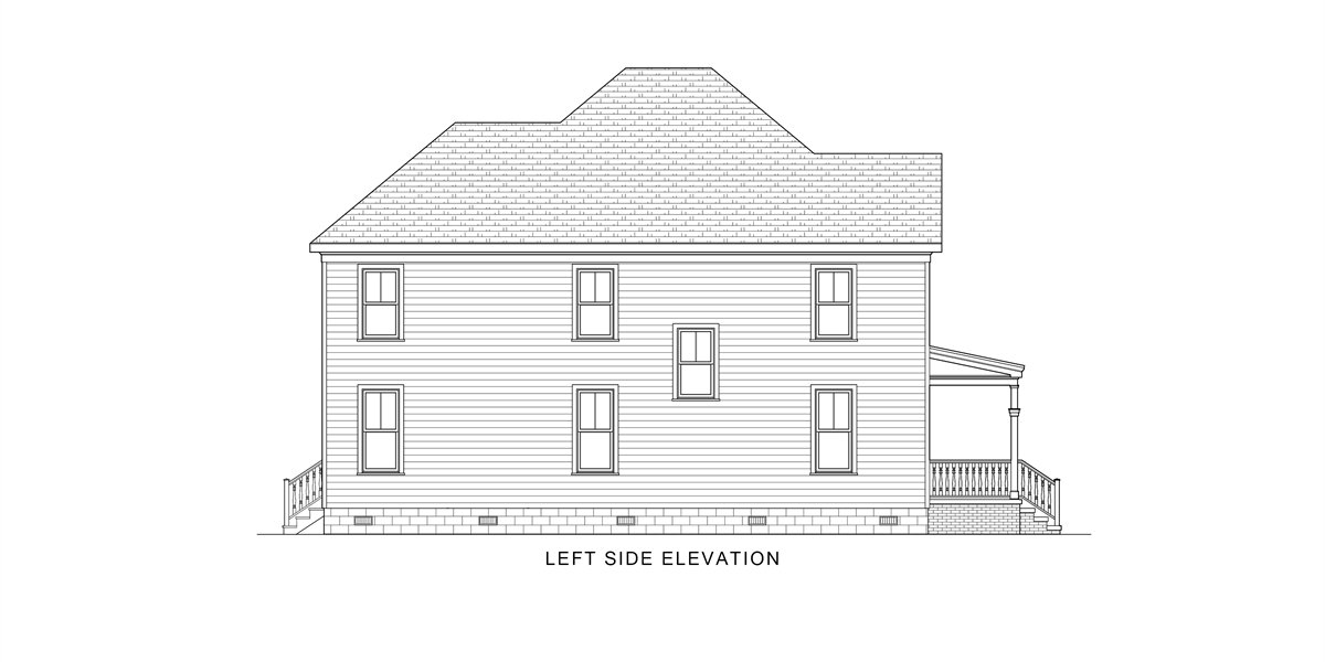 Left View image of Gabriella House Plan