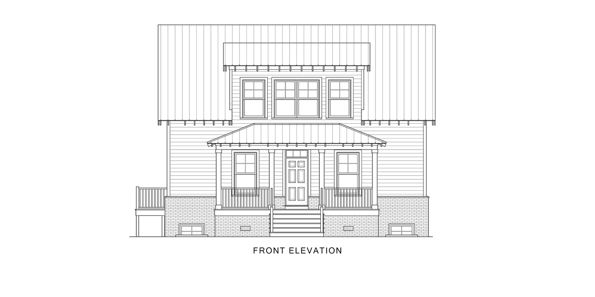 Front View image of Enough House Plan