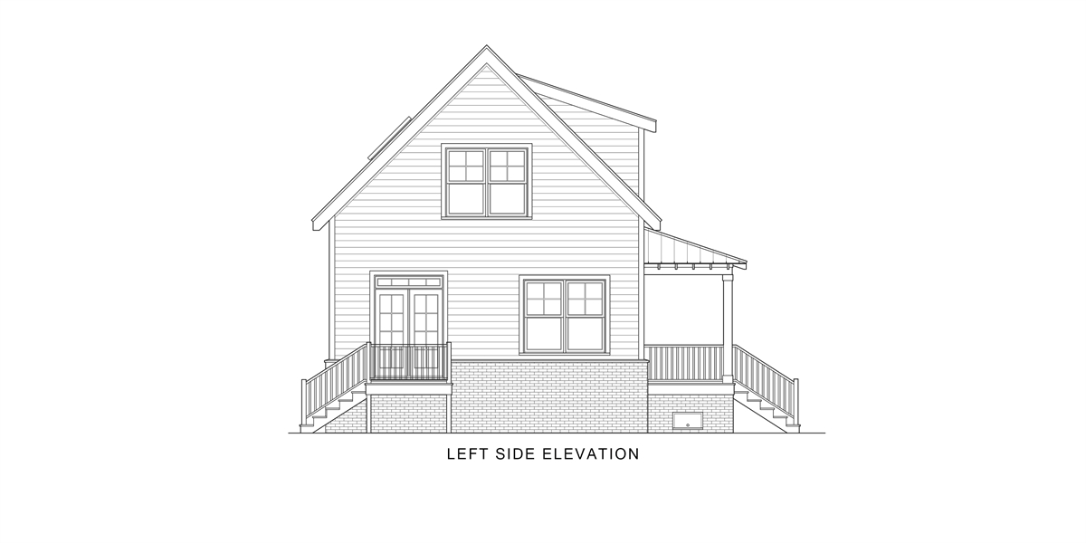 Left View image of Enough House Plan