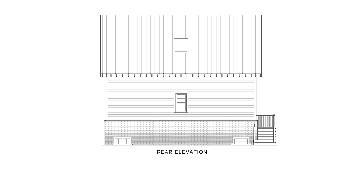 Rear View image of Enough House Plan