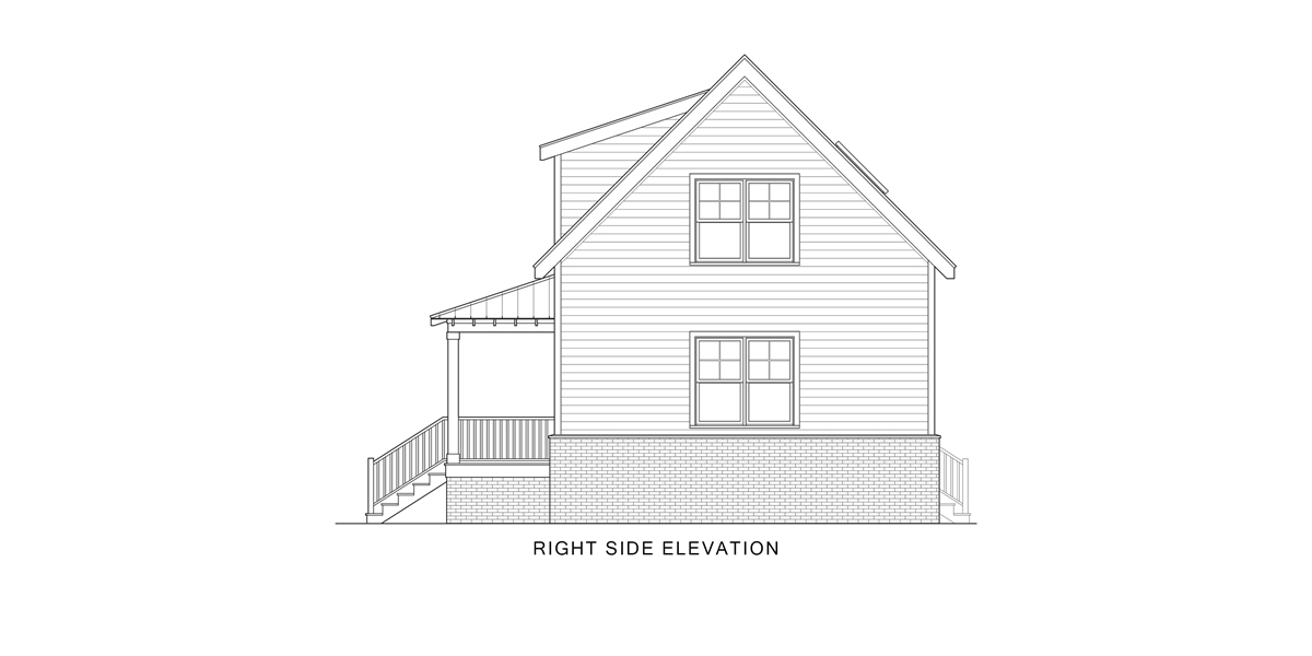 Right View image of Enough House Plan