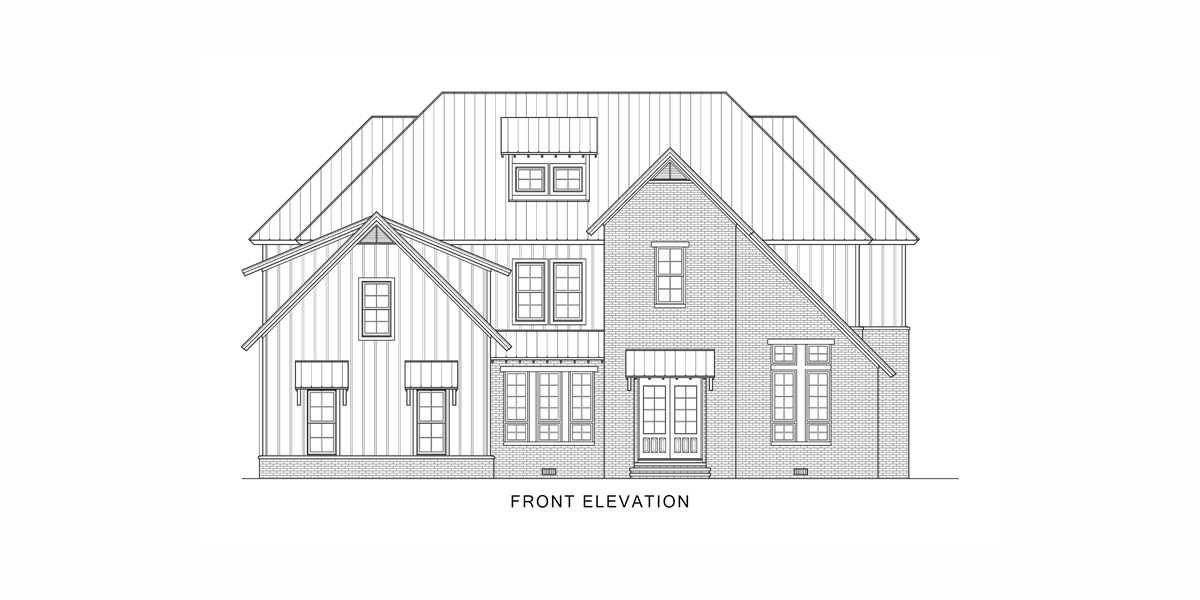 Front View image of Tulsa House Plan