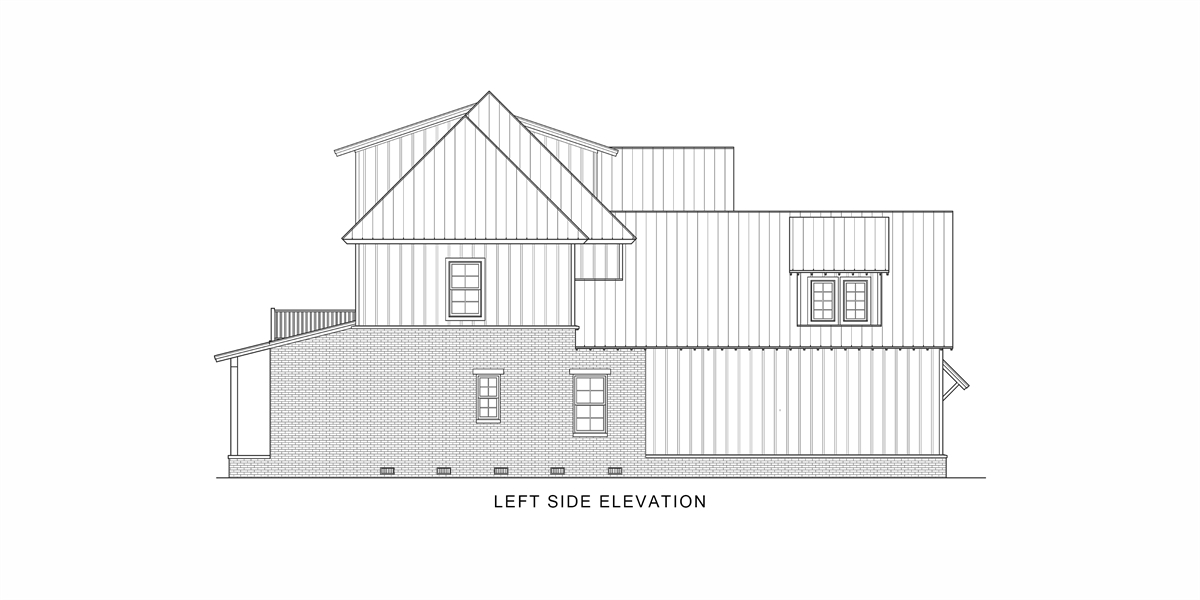 Left View image of Tulsa House Plan
