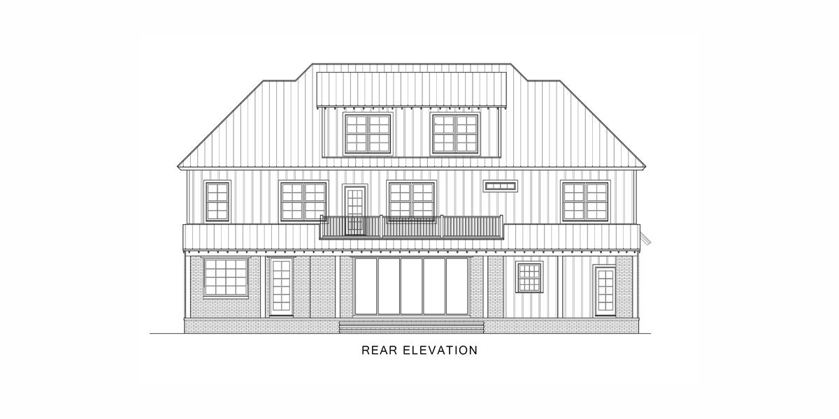 Rear View image of Tulsa House Plan