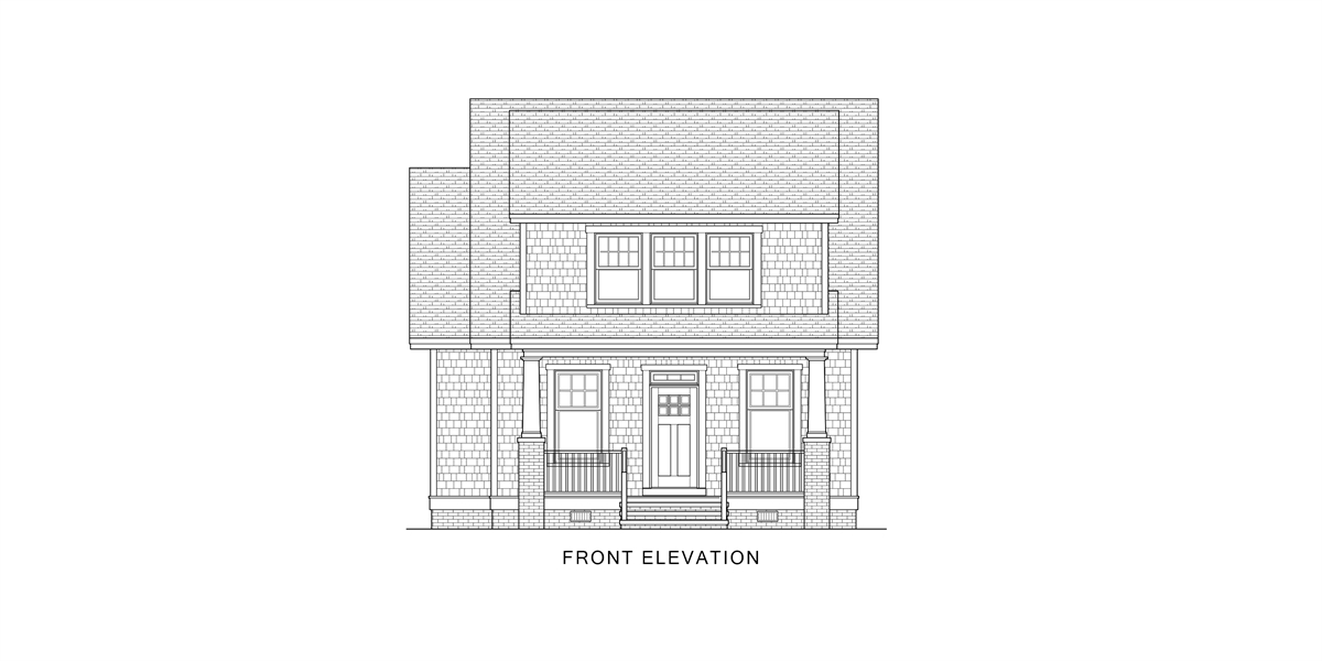 Front View image of Oklahoma House Plan
