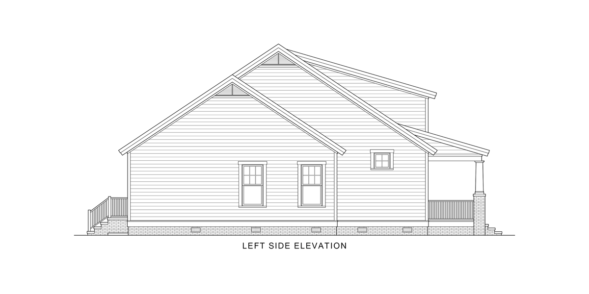 Left View image of Oklahoma House Plan