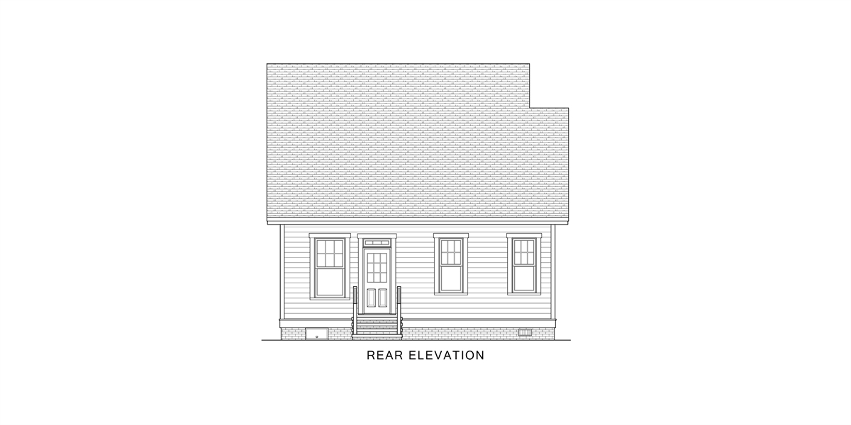 Rear View image of Oklahoma House Plan