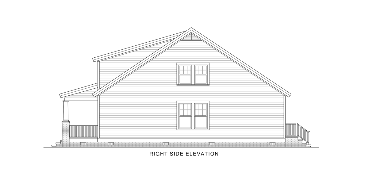 Right View image of Oklahoma House Plan