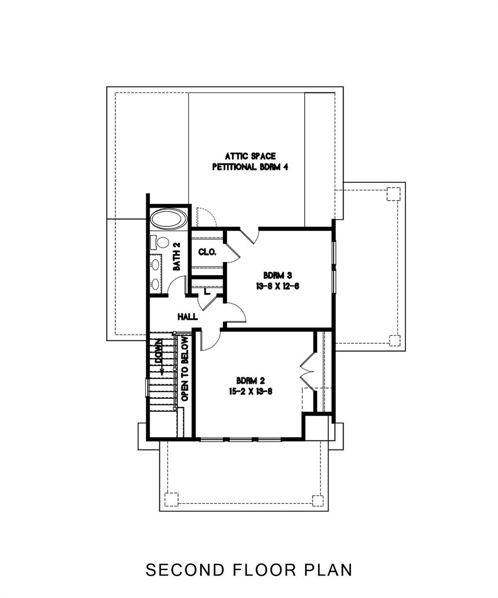 2nd Floor image of Oklahoma House Plan