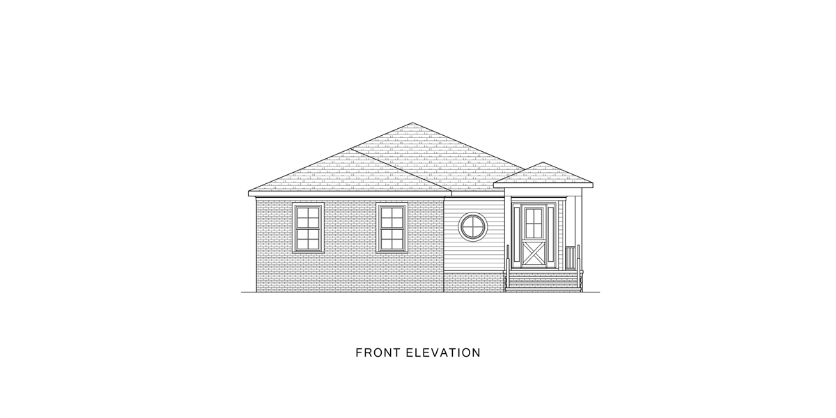Front View image of Good Living House Plan