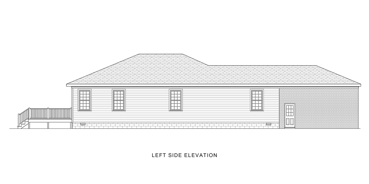 Left View image of Good Living House Plan