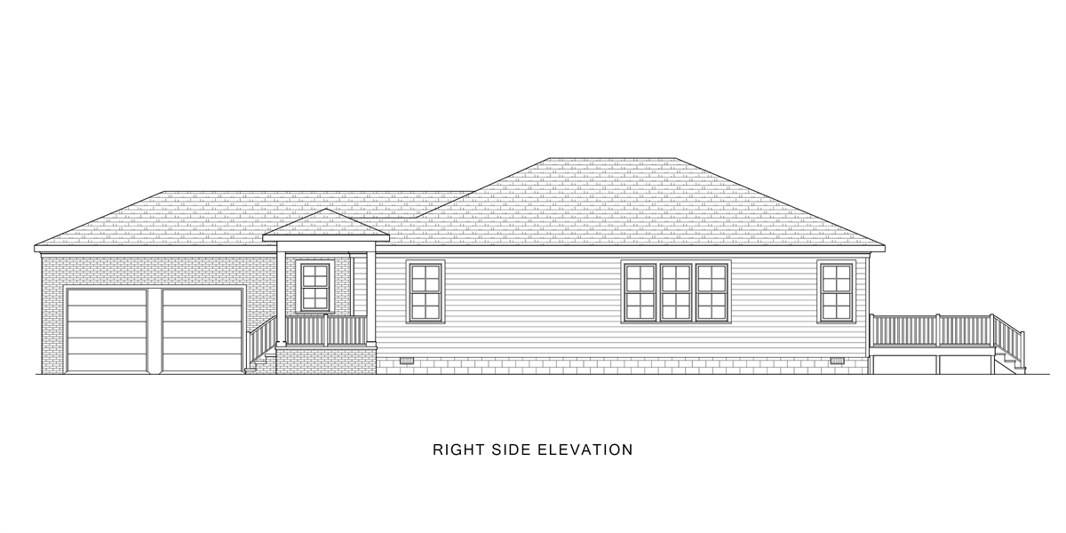 Right View image of Good Living House Plan