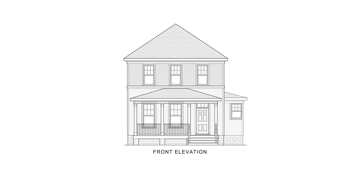 Front View image of West Orange House Plan