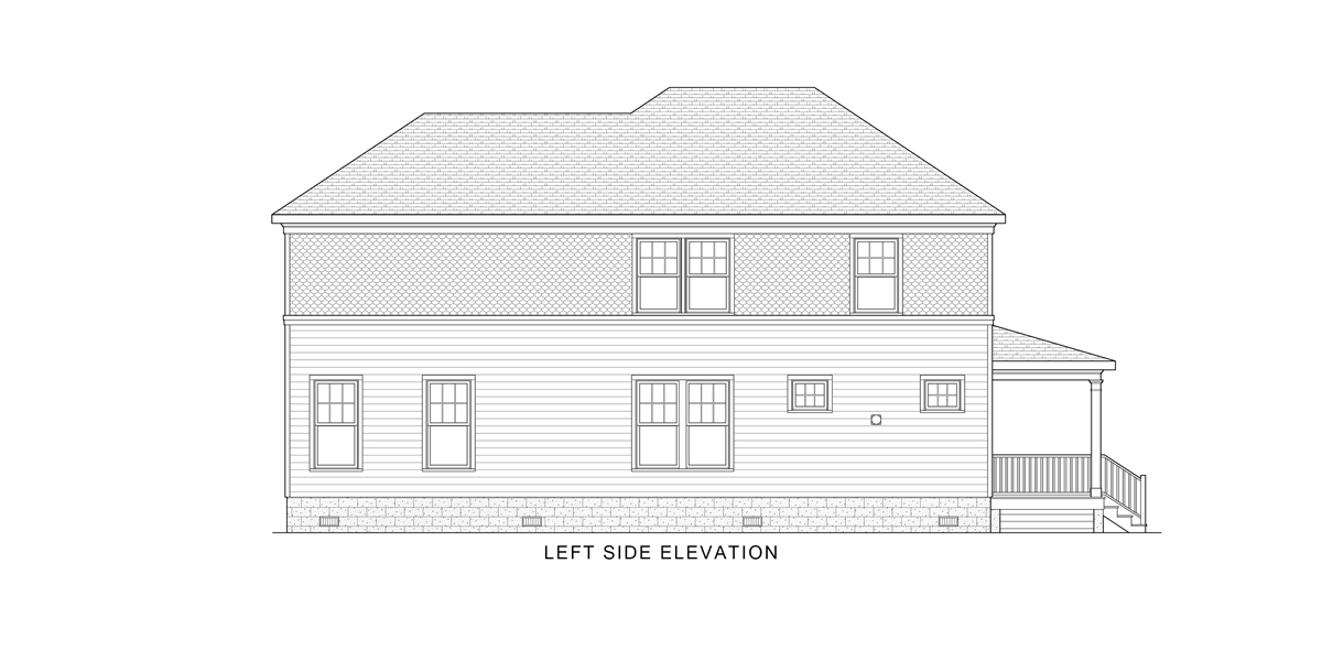Left View image of West Orange House Plan