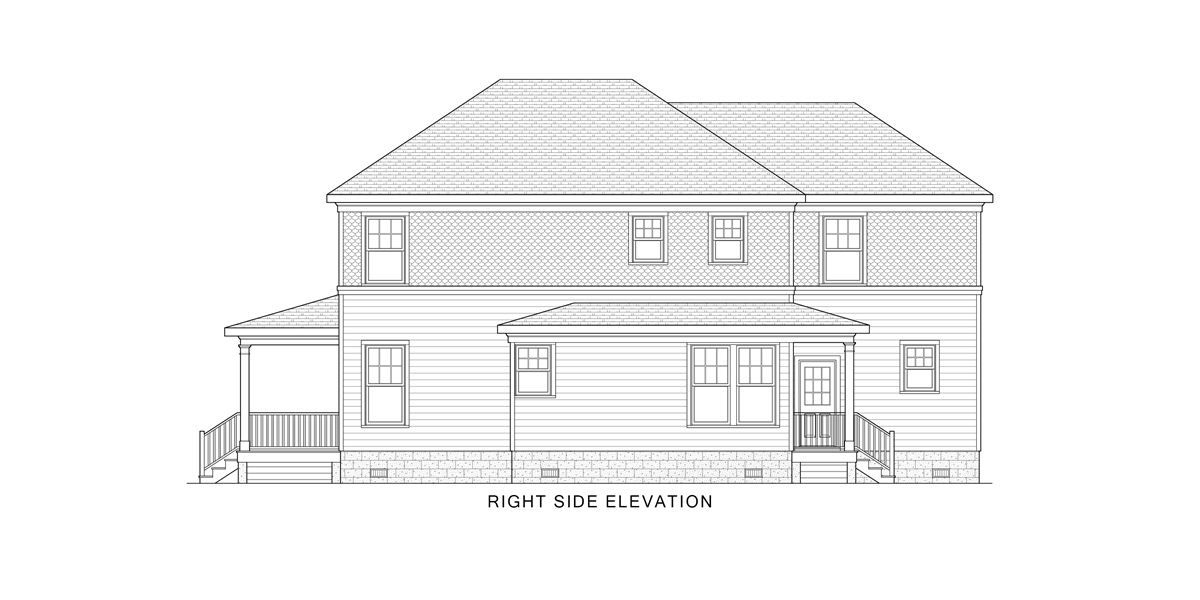 Right View image of West Orange House Plan