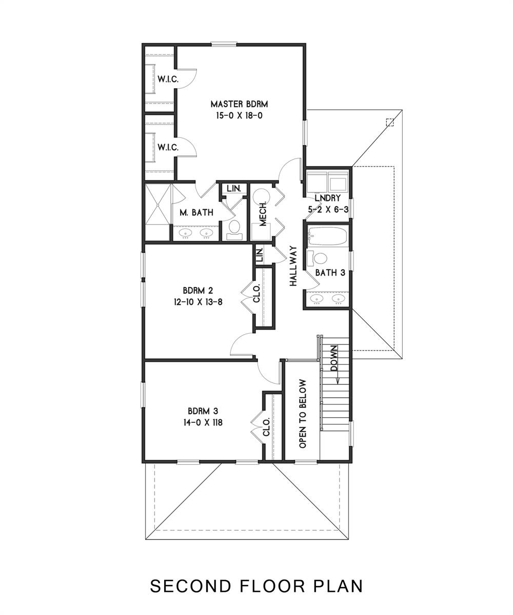 2nd Floor image of West Orange House Plan