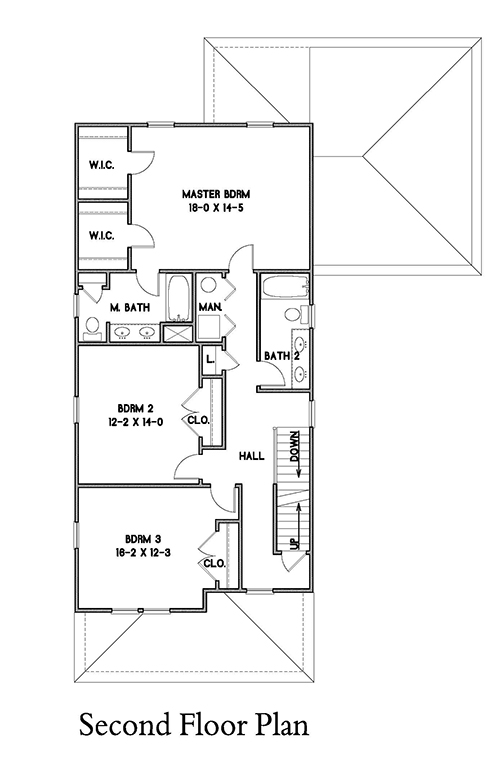 2nd Floor Plan image of Rochester House Plan