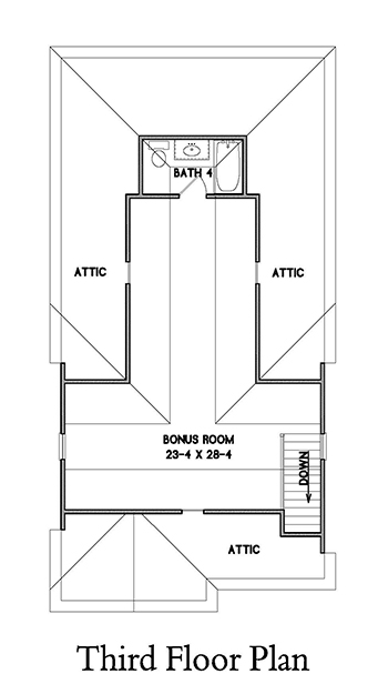 3rd Floor Plan image of Rochester House Plan