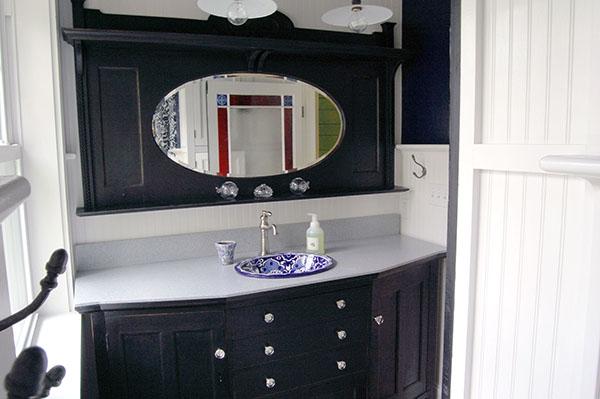 Katrina Cottage Bathroom 1 by DFD House Plans
