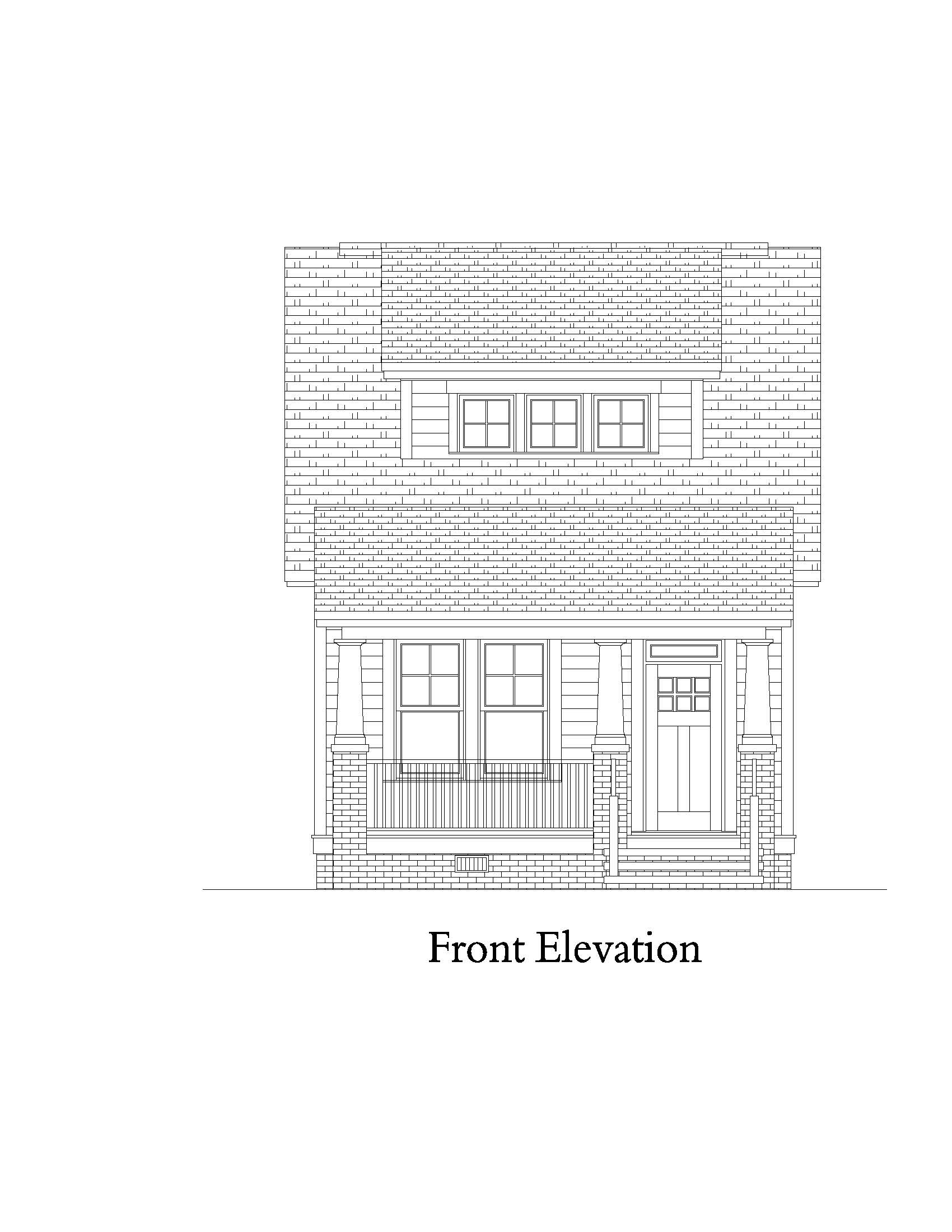 Front Elevation image of Norfolk House Plan