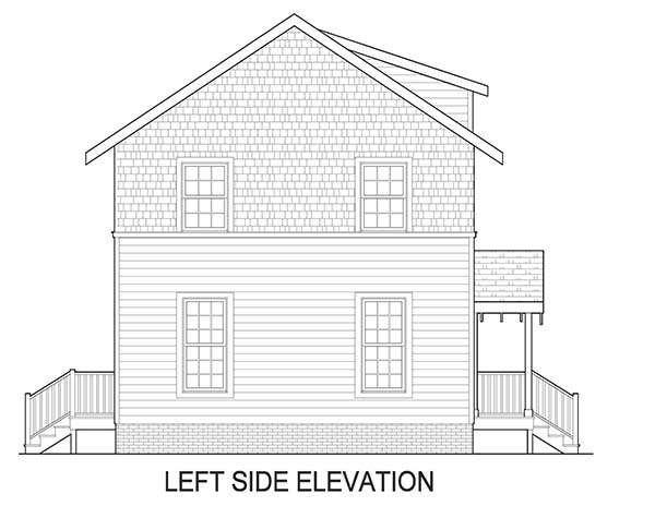 Left Side Elevation image of Norfolk House Plan