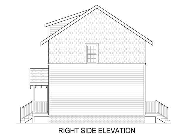 Right Side Elevation image of Norfolk House Plan