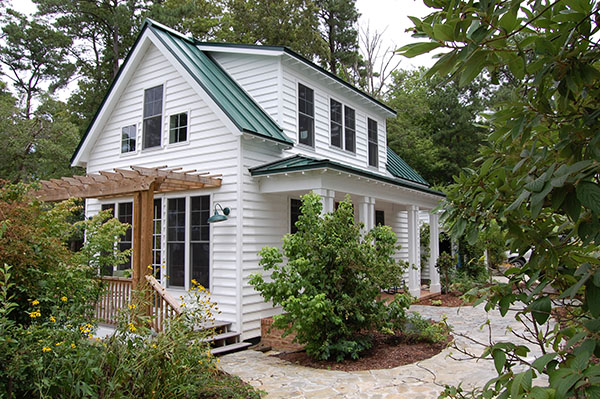 Katrina Cottage Side by DFD House Plans
