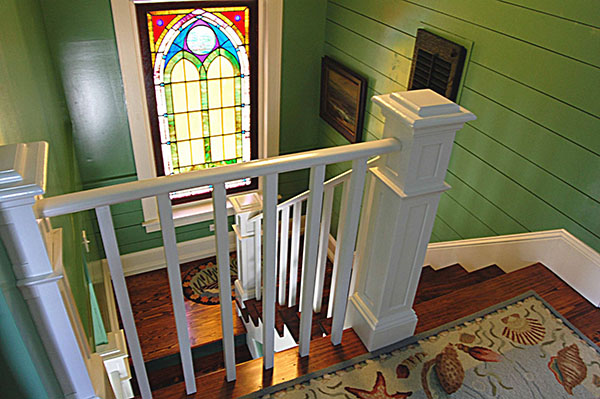 Katrina Cottage Inside Stain Glass by DFD House Plans