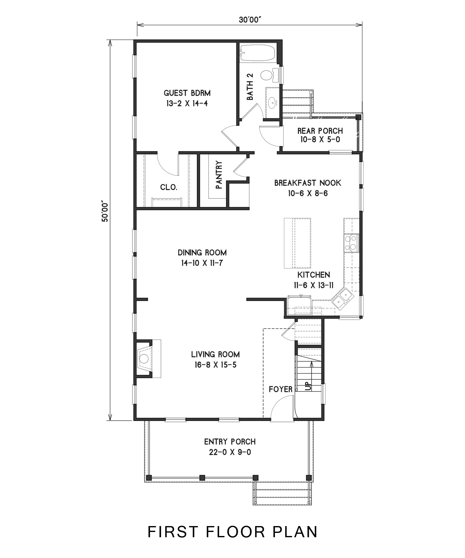 1st Floor image of West Orange House Plan