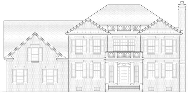 Front Elevation image of Warwick House Plan